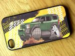 Koolart TYRE TRAX 4x4 Design For New Shape Land Rover Discovery 3 or 4 Hard Case Cover Fits Apple iPhone 4 & 4s